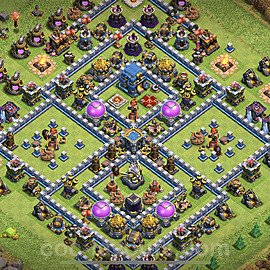 TH12 Anti 3 Stars Base Plan with Link, Copy Town Hall 12 Base Design 2021, #1