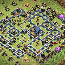 TH12 Anti 2 Stars Base Plan with Link, Copy Town Hall 12 Base Design 2021, #14