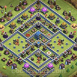 Top TH12 Unbeatable Anti Loot Base Plan with Link, Copy Town Hall 12 Base Design 2021, #2