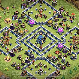 TH12 Anti 2 Stars Base Plan with Link, Copy Town Hall 12 Base Design 2021, #3