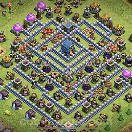 Full Upgrade TH12 Base Plan with Link, Copy Town Hall 12 Max Levels Design 2020, #4