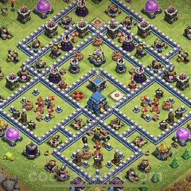 Anti Everything TH12 Base Plan with Link, Copy Town Hall 12 Design 2020, #5
