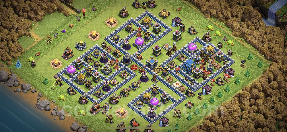 Full Upgrade TH12 Base Plan with Link, Copy Town Hall 12 Max Levels Design 2020, #10