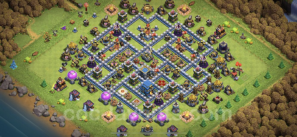 TH12 Anti 3 Stars Base Plan with Link, Copy Town Hall 12 Base Design 2020, #12