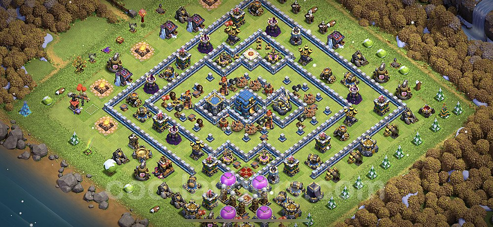 TH12 Anti 2 Stars Base Plan with Link, Copy Town Hall 12 Base Design 2021, #20