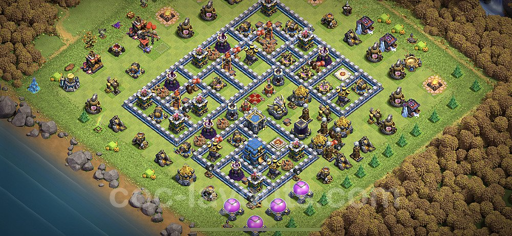TH12 Trophy Base Plan with Link, Copy Town Hall 12 Base Design 2020, #8