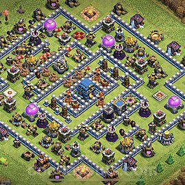 Base plan TH12 Max Levels with Link for Farming 2020, #1