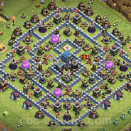 Base plan TH12 Max Levels with Link for Farming 2021, #24