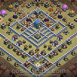 TH12 Anti 3 Stars War Base Plan with Link, Copy Town Hall 12 Design 2020, #1