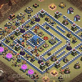 TH12 Anti 3 Stars War Base Plan with Link, Copy Town Hall 12 Design 2021, #15
