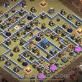 TH12 Max Levels War Base Plan with Link, Copy Town Hall 12 Design 2021, #17