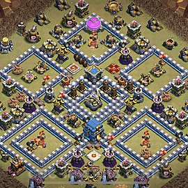 TH12 Anti 3 Stars War Base Plan with Link, Copy Town Hall 12 Design 2021, #18