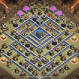 TH12 Anti 2 Stars War Base Plan with Link, Copy Town Hall 12 Design 2021, #19