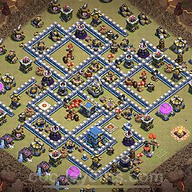 TH12 War Base Plan with Link, Copy Town Hall 12 Design 2021, #21