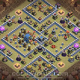 TH12 Max Levels War Base Plan with Link, Copy Town Hall 12 Design 2021, #22