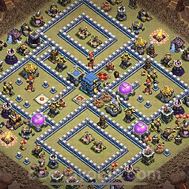 TH12 Anti 2 Stars War Base Plan with Link, Copy Town Hall 12 Design 2020, #3
