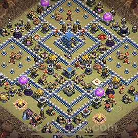 TH12 Anti 3 Stars War Base Plan with Link, Copy Town Hall 12 Design 2020, #4
