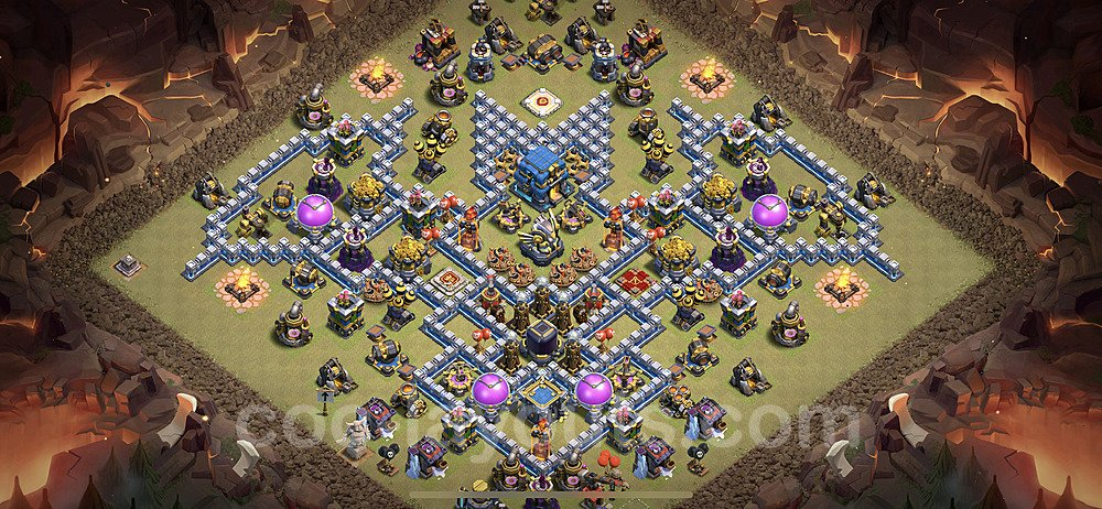 TH12 War Base Plan with Link, Copy Town Hall 12 Design 2021, #24