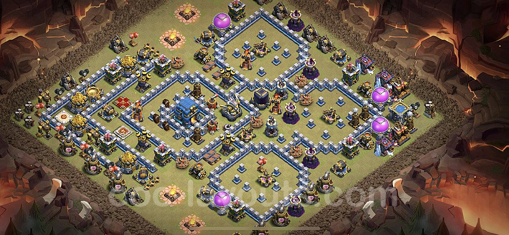 TH12 Max Levels War Base Plan with Link, Copy Town Hall 12 Design 2021, #28