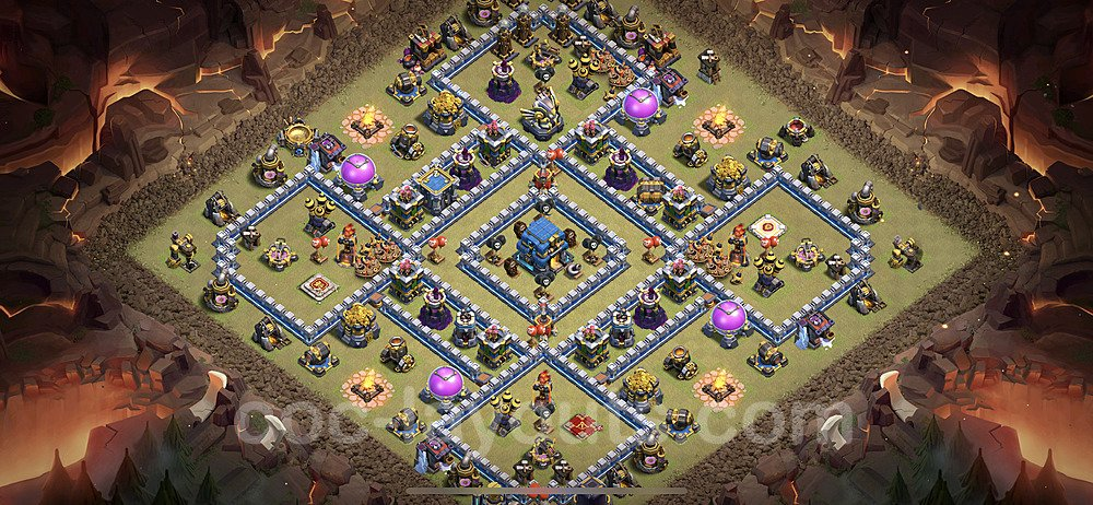 TH12 Anti 3 Stars War Base Plan with Link, Copy Town Hall 12 Design 2021, #31