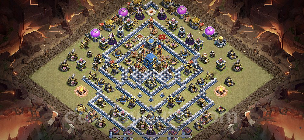 TH12 Anti 2 Stars War Base Plan with Link, Copy Town Hall 12 Design 2020, #8