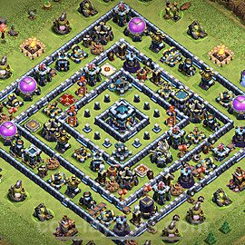 TH13 Anti 3 Stars Base Plan with Link, Copy Town Hall 13 Base Design 2021, #1