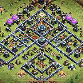 Anti Everything TH13 Base Plan with Link, Copy Town Hall 13 Design 2021, #2