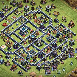 Anti Everything TH13 Base Plan with Link, Copy Town Hall 13 Design 2021, #20
