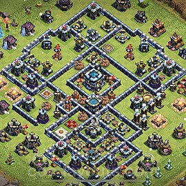 Top TH13 Unbeatable Anti Loot Base Plan with Link, Copy Town Hall 13 Base Design 2021, #21