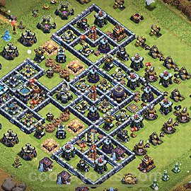 TH13 Trophy Base Plan with Link, Copy Town Hall 13 Base Design 2021, #22