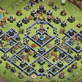 TH13 Anti 2 Stars Base Plan with Link, Copy Town Hall 13 Base Design 2021, #23