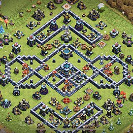 TH13 Anti 2 Stars Base Plan with Link, Copy Town Hall 13 Base Design 2021, #24