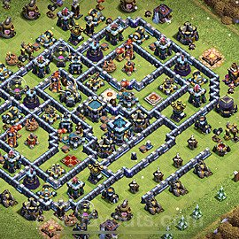 TH13 Trophy Base Plan with Link, Copy Town Hall 13 Base Design 2021, #25