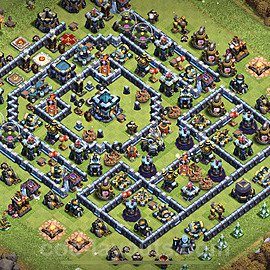 TH13 Trophy Base Plan with Link, Copy Town Hall 13 Base Design 2021, #26