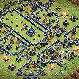 TH13 Trophy Base Plan with Link, Copy Town Hall 13 Base Design 2021, #29