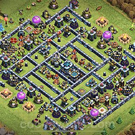 TH13 Anti 2 Stars Base Plan with Link, Copy Town Hall 13 Base Design 2021, #3