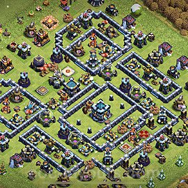 TH13 Anti 3 Stars Base Plan with Link, Copy Town Hall 13 Base Design 2021, #30