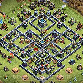 Anti Everything TH13 Base Plan with Link, Copy Town Hall 13 Design 2021, #31