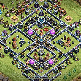TH13 Trophy Base Plan with Link, Copy Town Hall 13 Base Design 2021, #4