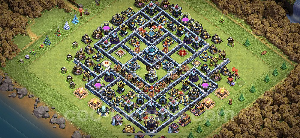 Anti Everything TH13 Base Plan with Link, Copy Town Hall 13 Design 2020, #12
