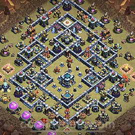 TH13 Anti 3 Stars War Base Plan with Link, Copy Town Hall 13 Design 2021, #1