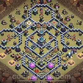 TH13 Anti 2 Stars War Base Plan with Link, Copy Town Hall 13 Design 2021, #2