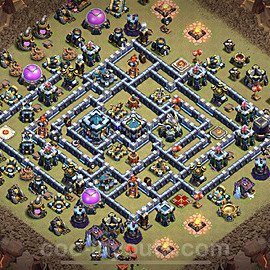 TH13 War Base Plan with Link, Copy Town Hall 13 Design 2021, #3