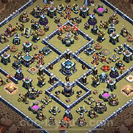 TH13 Anti 2 Stars War Base Plan with Link, Copy Town Hall 13 Design 2021, #38