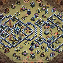 TH13 War Base Plan with Link, Copy Town Hall 13 Design 2021, #39