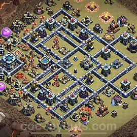 TH13 War Base Plan with Link, Copy Town Hall 13 Design 2021, #4