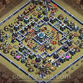 TH13 Anti 2 Stars War Base Plan with Link, Copy Town Hall 13 Design 2021, #40
