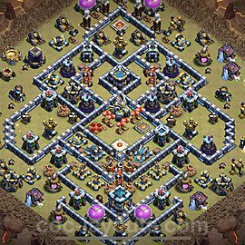 TH13 War Base Plan with Link, Copy Town Hall 13 Design 2020, #5