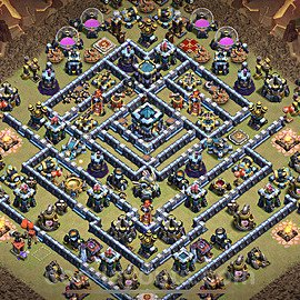 TH13 Anti 3 Stars War Base Plan with Link, Copy Town Hall 13 Design 2020, #6