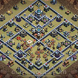 TH13 War Base Plan with Link, Copy Town Hall 13 Design 2021, #74